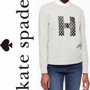 Kate Spade Initial Sweatshirt In H Size XL